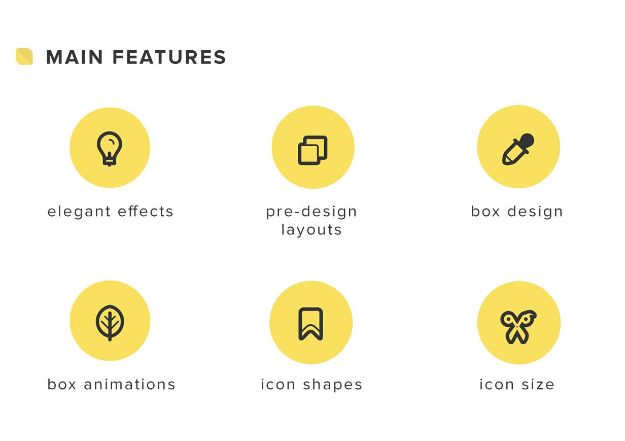 Elegant Icon Box | Visual Composer Add-on | WordPress plugin 4