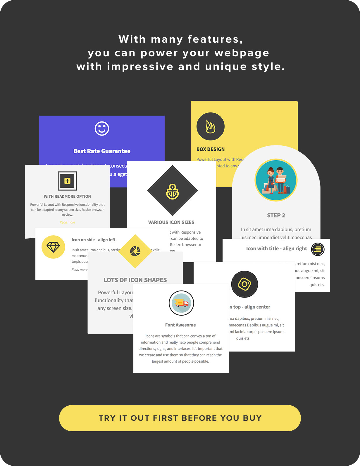 Elegant Icon Box | Visual Composer Add-on | WordPress plugin 7